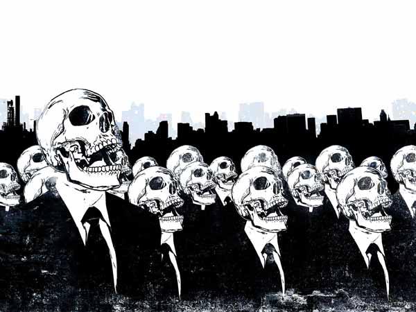برچسب اسکین طرح Skulls