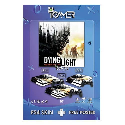 خرید برچسب اسکین طرح Dying Light The Following