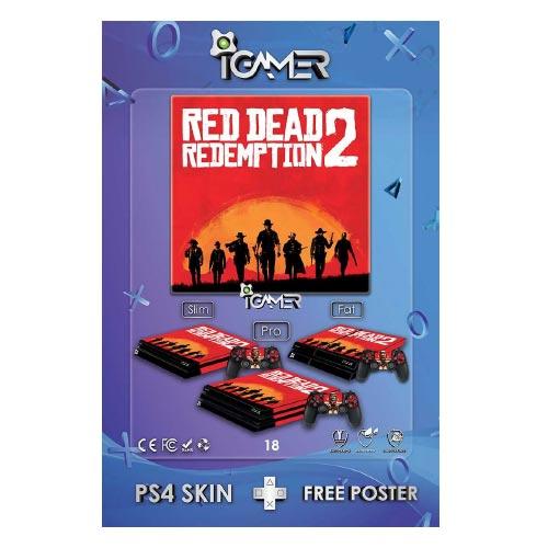 برچسب اسکین طرح Red Dead Redemption 2