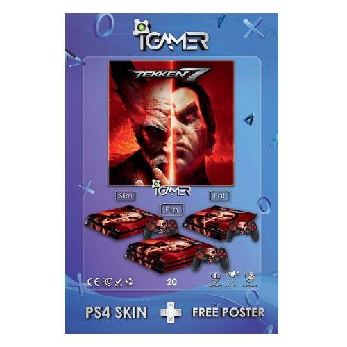 برچسب اسکین طرح Tekken 7