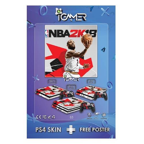 برچسب اسکین طرح NBA 2k18