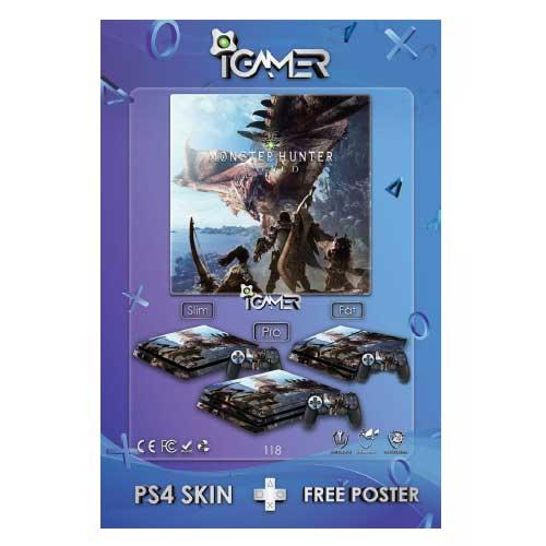 برچسب اسکین طرح Monster Hunter World